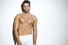 Портрет без рубашки среднего взрослого человека Стоковые Изображения RF