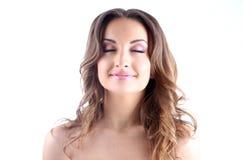 Портрет белокурой повелительницы с красивейшими волосами Стоковые Изображения