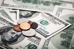 Портрет Бенджамина Франклина от 100 долларов банкноты Стоковая Фотография