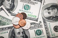 Портрет Бенджамина Франклина от 100 долларов банкноты Стоковое Изображение RF