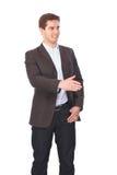 Портрет бизнесмена давая руку для рукопожатия Стоковое Изображение RF