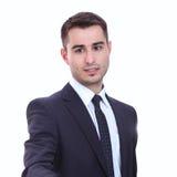 Портрет бизнесмена давая руку для рукопожатия Стоковая Фотография RF