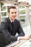 Портрет бизнесмена вне офиса Стоковое Изображение RF