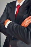 Портрет бизнесмена в костюме с красной связью Стоковая Фотография