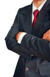 Портрет бизнесмена в костюме с красной связью Стоковые Фото