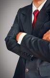 Портрет бизнесмена в костюме с красной связью Стоковые Фотографии RF