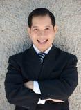 портрет бизнесмена жизнерадостный Стоковая Фотография RF