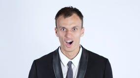 Портрет бизнесмена изумленного детенышами Стоковое Изображение RF