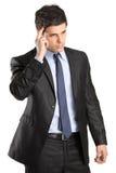 портрет бизнесмена красивый заботливый Стоковые Изображения RF