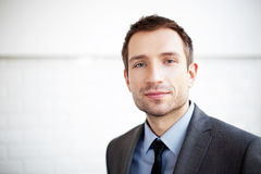 портрет бизнесмена красивый стоковое фото rf