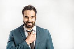 Портрет бизнесмена на белизне Стоковые Изображения RF