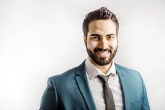 Портрет бизнесмена на белизне Стоковая Фотография RF