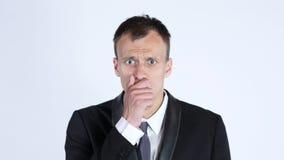 портрет бизнесмена сотрясенного детенышами Стоковое фото RF