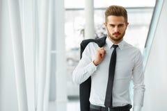 портрет бизнесмена уверенно вектор людей jpg иллюстрации дела Стоковая Фотография RF