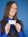 Портрет бизнес-леди красоты с пробелом карточки посещения Стоковые Изображения