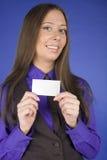 Портрет бизнес-леди красоты с пробелом карточки посещения Стоковое Изображение RF
