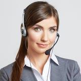 Портрет бизнес-леди на белизне Стоковое Изображение RF