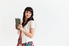Портрет бизнес-леди на белой предпосылке Стоковые Фотографии RF
