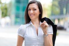 Портрет бизнес-леди перед организацией бизнеса стоковое изображение
