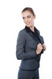 Портрет бизнес-леди. Смотреть назад. Стоковые Фото