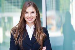 Портрет бизнес-леди стоковое изображение