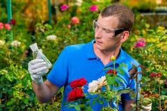 Портрет биолога с биологом с химикатами Стоковая Фотография RF
