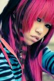 портрет близкой девушки азиата Стоковая Фотография RF