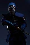 Портрет бойца kendo с shinai Стоковые Фотографии RF