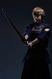 Портрет бойца kendo Стоковые Фото