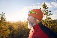 Портрет бородатого спортсмена стоковая фотография