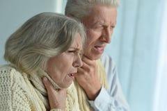Портрет больных пожилых пар Стоковые Фотографии RF