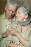 Портрет больных старших пар Стоковые Фотографии RF