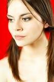 портрет брюнет модельный Стоковое Фото