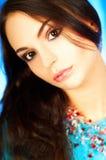 портрет брюнет модельный Стоковое Изображение RF