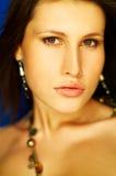 портрет брюнет сексуальный Стоковая Фотография RF