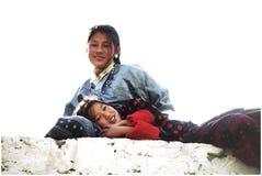 Портрет бутанских маленьких девочек Стоковые Изображения RF