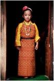 Портрет бутанской маленькой девочки Стоковое фото RF