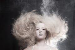 Портрет бледной женщины Стоковое фото RF