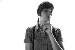Портрет близкий вверх молодой красивой женщины, стоковая фотография