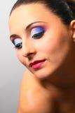 портрет близкой весьма стороны боковой модельный вверх по вертикали Стоковые Изображения RF