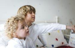 портрет близкой девушки детей вверх Стоковые Фото