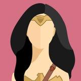 Портрет вектора женщины героя Стоковая Фотография RF