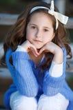 Портрет весны девочка-подростка outdoors Стоковая Фотография RF