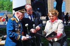 Портрет ветерана войны Стоковые Фото