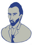 Портрет Винсента ван Гога Стоковое Фото