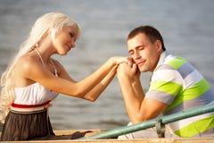 портрет влюбленности пар Стоковые Фото