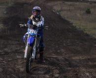 Портрет водителя motocross Стоковые Фотографии RF