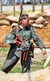Портрет воина-reenactor Стоковые Фото