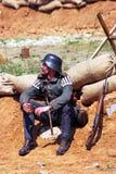 Портрет воина-reenactor Стоковое Изображение