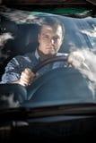 Портрет водителя через стекло Стоковые Изображения
